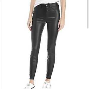 Free people vegan leather high rise long lean pant